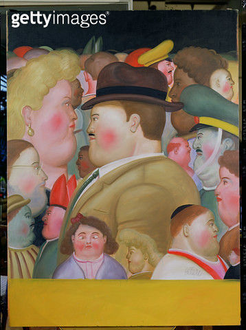 <b>Title</b> : Theatre Characters, 1977 (oil on canvas)<br><b>Medium</b> : oil on canvas<br><b>Location</b> : Private Collection<br> - gettyimageskorea
