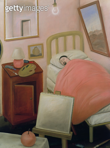 <b>Title</b> : The Bedroom, 1978 (oil on canvas)<br><b>Medium</b> : oil on canvas<br><b>Location</b> : Private Collection<br> - gettyimageskorea