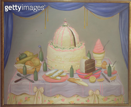 <b>Title</b> : Many Happy Returns, 1971 (oil on canvas)<br><b>Medium</b> : oil on canvas<br><b>Location</b> : Private Collection<br> - gettyimageskorea