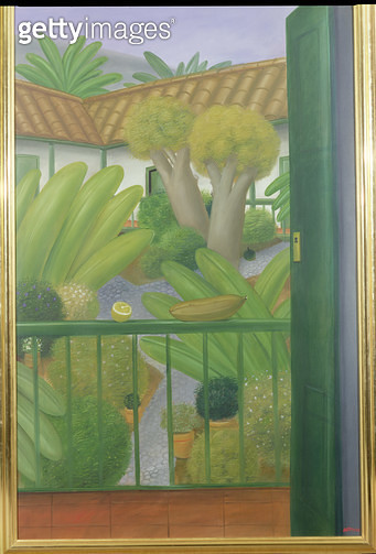 <b>Title</b> : The Patio, 1982 (oil on canvas)<br><b>Medium</b> : oil on canvas<br><b>Location</b> : Private Collection<br> - gettyimageskorea
