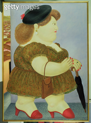 <b>Title</b> : Profile of a Woman Walking, 1983 (oil on canvas)<br><b>Medium</b> : oil on canvas<br><b>Location</b> : Private Collection<br> - gettyimageskorea