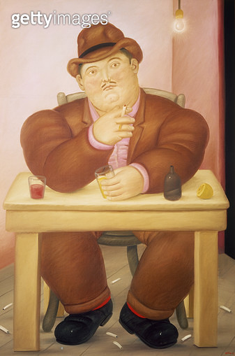 <b>Title</b> : Man, 1982 (oil on canvas)<br><b>Medium</b> : oil on canvas<br><b>Location</b> : Private Collection<br> - gettyimageskorea