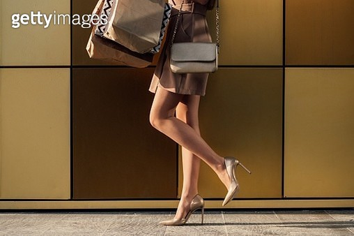 Low Section Of Woman In High Heels - gettyimageskorea