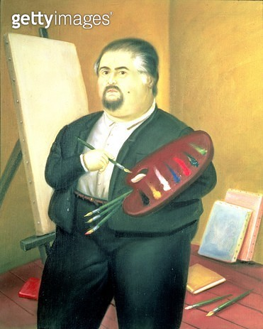 <b>Title</b> : Self Portrait, 1987 (oil on canvas)<br><b>Medium</b> : oil on canvas<br><b>Location</b> : Private Collection<br> - gettyimageskorea