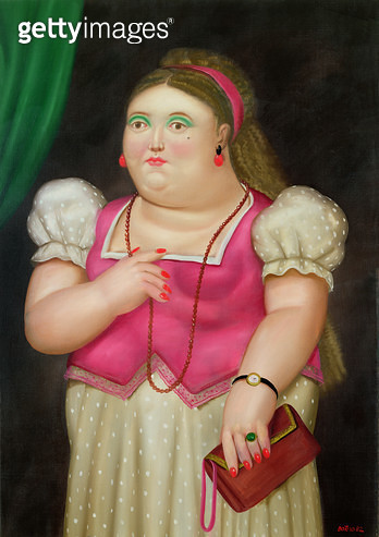 <b>Title</b> : Girl with Red Necklace, 1982 (oil on canvas)<br><b>Medium</b> : <br><b>Location</b> : Private Collection<br> - gettyimageskorea