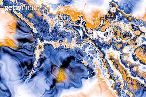 Creative ebru background with abstract painted waves - gettyimageskorea