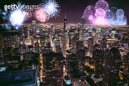 New Year's day fireworks and celebrations - gettyimageskorea