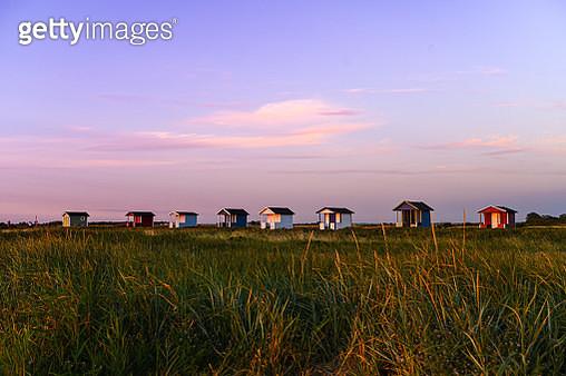 Row of beach sheds - gettyimageskorea
