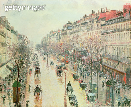 <b>Title</b> : The Boulevard Montmartre, 1893<br><b>Medium</b> : <br><b>Location</b> : Private Collection<br> - gettyimageskorea