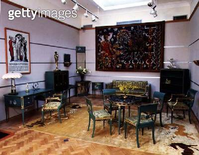 Suite of Art Nouveau salon furniture/ by Lysbery and Hansen/ c.1880 - gettyimageskorea