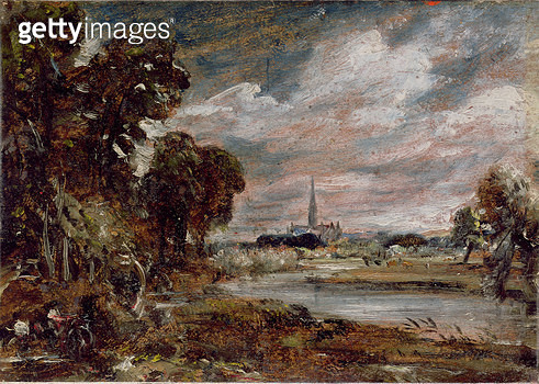 Salisbury Cathedral: from the meadows - gettyimageskorea