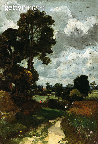 Oil Sketch of Stoke-by-Nayland - gettyimageskorea