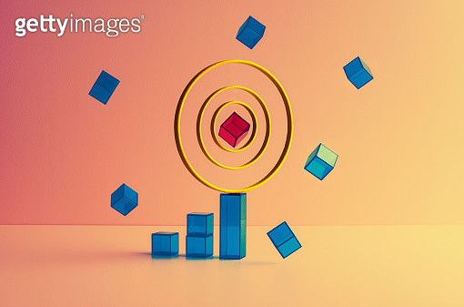 Cubes levitating around a core - gettyimageskorea
