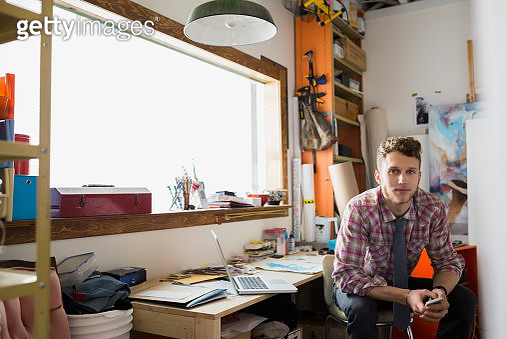 Portrait of confident designer in office - gettyimageskorea