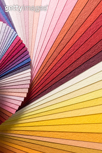 Colorful Paper Pages Spining in Fan Shape - gettyimageskorea