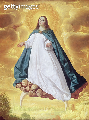 <b>Title</b> : The Immaculate Conception, c.1628-30 (oil on canvas)<br><b>Medium</b> : oil on canvas<br><b>Location</b> : Private Collection<br> - gettyimageskorea