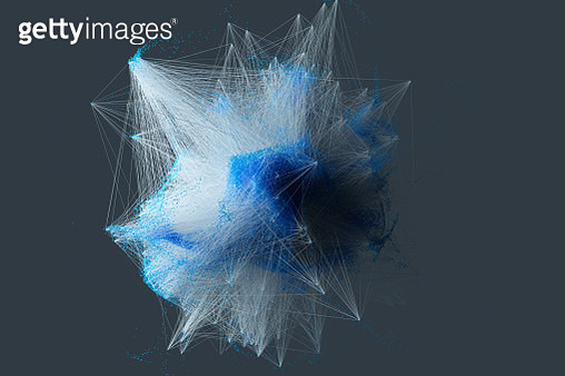 Particle connection network - gettyimageskorea