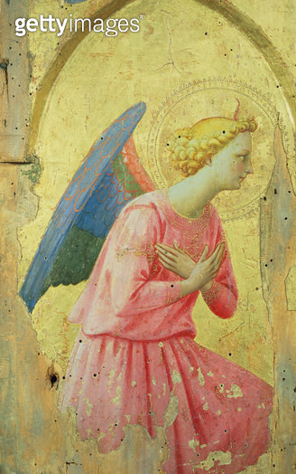 <b>Title</b> : Adoration of an Angel, c.1430-40 (tempera on panel)Additional Infofor San Domenico in Fiesole;<br><b>Medium</b> : tempera on panel<br><b>Location</b> : Louvre, Paris, France<br> - gettyimageskorea