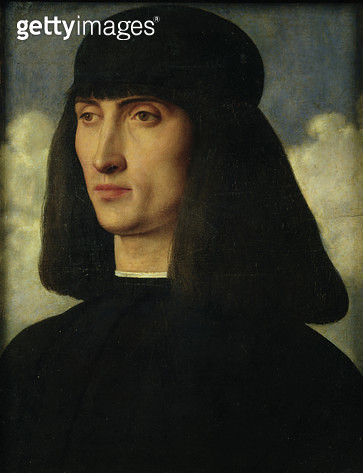 <b>Title</b> : Portrait of a Young Man, c.1500 (oil on panel)<br><b>Medium</b> : oil on panel<br><b>Location</b> : Louvre, Paris, France<br> - gettyimageskorea