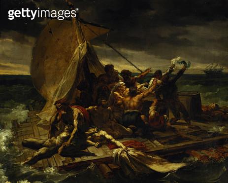 <b>Title</b> : Study for The Raft of the Medusa (oil on canvas)Additional InfoLe Radeau de la Meduse, esquisse;<br><b>Medium</b> : oil on canvas<br><b>Location</b> : Louvre, Paris, France<br> - gettyimageskorea