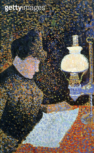 <b>Title</b> : Woman by a lamp, 1890 (panel)<br><b>Medium</b> : oil on panel<br><b>Location</b> : Musee d'Orsay, Paris, France<br> - gettyimageskorea