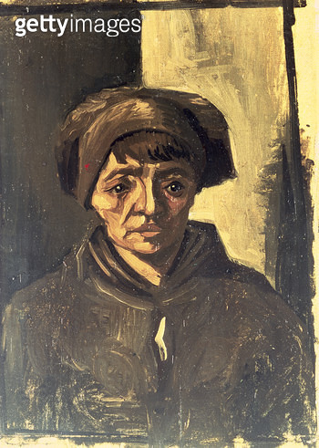 <b>Title</b> : Bust of a Peasant, 1884 (oil on canvas)<br><b>Medium</b> : oil on canvas<br><b>Location</b> : Private Collection<br> - gettyimageskorea