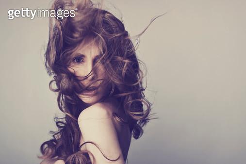 young funky woman indoor portrait - gettyimageskorea