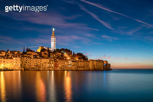Rovinj old town with sunset, Rovinj, Croatia - gettyimageskorea