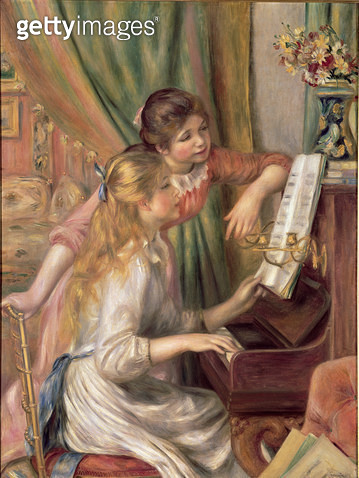 <b>Title</b> : Young Girls at the Piano, 1892 (oil on canvas)<br><b>Medium</b> : oil on canvas<br><b>Location</b> : Musee d'Orsay, Paris, France<br> - gettyimageskorea