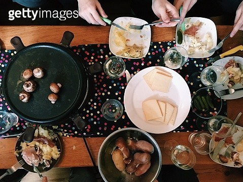 Directly Above View Of Fresh Meal On Table - gettyimageskorea