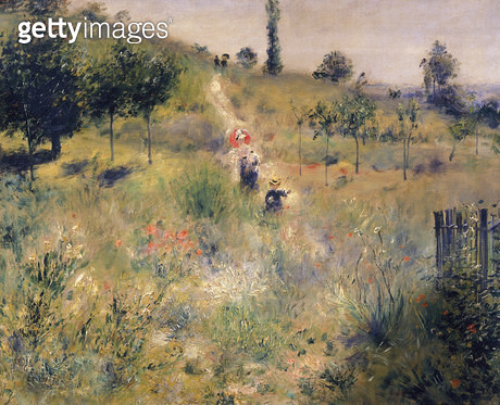 <b>Title</b> : The Path through the Long Grass, c.1875 (oil on canvas)<br><b>Medium</b> : oil on canvas<br><b>Location</b> : Musee d'Orsay, Paris, France<br> - gettyimageskorea