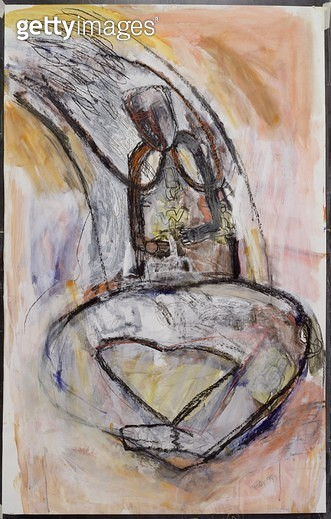 Linking Lucie/ 1989 (mixed media on paper) - gettyimageskorea