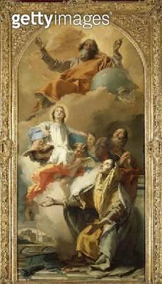 <b>Title</b> : St. Anne's Vision (oil on canvas)Additional InfoDie Vision der Heiligen Anne;<br><b>Medium</b> : oil on canvas<br><b>Location</b> : Gemaeldegalerie Alte Meister, Dresden, Germany<br> - gettyimageskorea