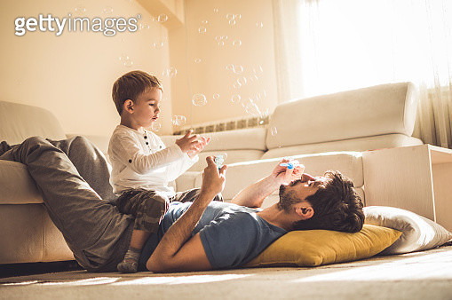 Playing with daddy - gettyimageskorea