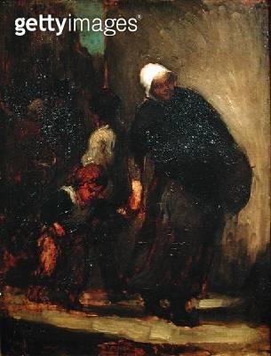 Street Scene/ c.1864 (oil on panel) - gettyimageskorea