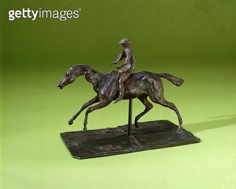 <b>Title</b> : Jockey on a Horse (bronze)<br><b>Medium</b> : bronze<br><b>Location</b> : Private Collection<br> - gettyimageskorea