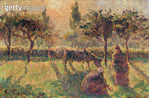 <b>Title</b> : In the Fields, 1890 (oil on canvas)<br><b>Medium</b> : oil on canvas<br><b>Location</b> : Private Collection<br> - gettyimageskorea