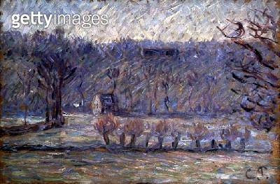 <b>Title</b> : The Hill at Vaches, Bazincourt, c.1890 (oil on canvas)<br><b>Medium</b> : oil on canvas<br><b>Location</b> : Private Collection<br> - gettyimageskorea