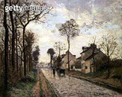<b>Title</b> : The Louveciennes Road, 1870 (oil on canvas)<br><b>Medium</b> : oil on canvas<br><b>Location</b> : Private Collection<br> - gettyimageskorea