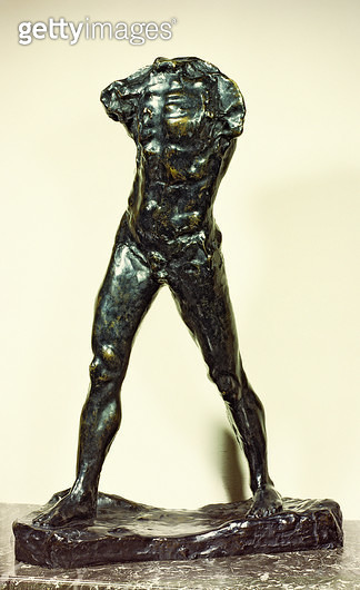 <b>Title</b> : The Walking Man, 1877 (bronze)Additional Infostudy for John the Baptist;<br><b>Medium</b> : bronze<br><b>Location</b> : Private Collection<br> - gettyimageskorea
