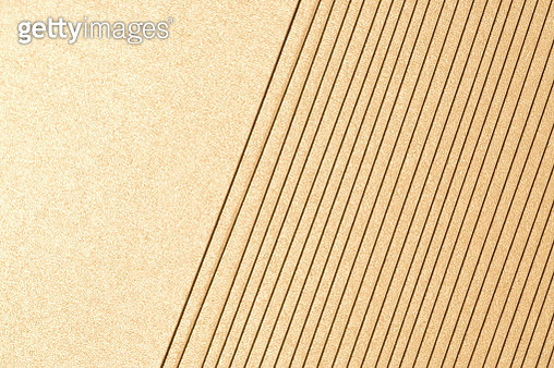 Champaign Gold Colored Paper Stacking Pattern Background, Close-up Shot. - gettyimageskorea