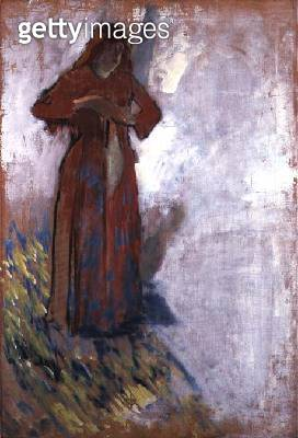 <b>Title</b> : Woman Undressing (oil on canvas)<br><b>Medium</b> : oil on canvas<br><b>Location</b> : Private Collection<br> - gettyimageskorea