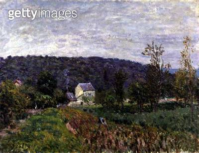 <b>Title</b> : Autumn Evening on the Outskirts of Paris, 1879 (oil on canvas)<br><b>Medium</b> : oil on canvas<br><b>Location</b> : Private Collection<br> - gettyimageskorea