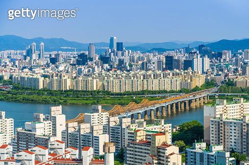 동호대교와 강남구 풍경, 서울시 - gettyimageskorea