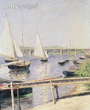 <b>Title</b> : Sailing boats at Argenteuil, c.1888 (oil on canvas)<br><b>Medium</b> : oil on canvas<br><b>Location</b> : Musee d'Orsay, Paris, France<br> - gettyimageskorea