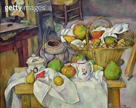 <b>Title</b> : Still life with basket, 1888-90 (oil on canvas)<br><b>Medium</b> : oil on canvas<br><b>Location</b> : Musee d'Orsay, Paris, France<br> - gettyimageskorea