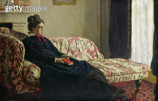 <b>Title</b> : Meditation, or Madame Monet on the Sofa, c.1871 (oil on canvas)<br><b>Medium</b> : oil on canvas<br><b>Location</b> : Musee d'Orsay, Paris, France<br> - gettyimageskorea