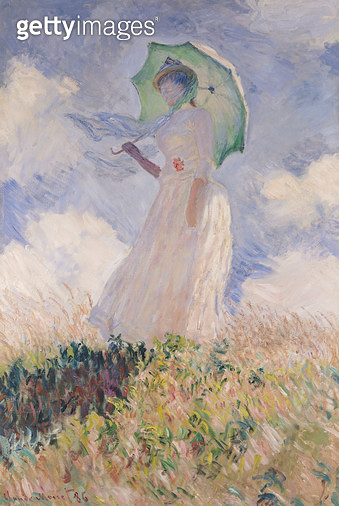 <b>Title</b> : Woman with Parasol turned to the Left, 1886 (oil on canvas)<br><b>Medium</b> : oil on canvas<br><b>Location</b> : Musee d'Orsay, Paris, France<br> - gettyimageskorea
