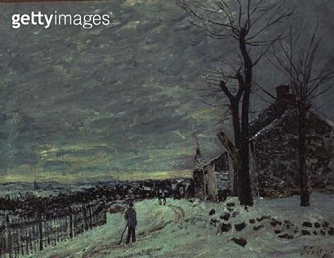<b>Title</b> : Snow at Veneux-Nadon, c.1880 (oil on canvas)<br><b>Medium</b> : oil on canvas<br><b>Location</b> : Musee d'Orsay, Paris, France<br> - gettyimageskorea