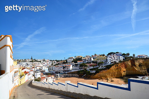 Street of Carvoeiro Portugal - gettyimageskorea